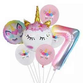 Unicorn  Ballonnen Set  7  jaar