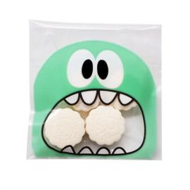 Monster groen snoepzakje