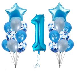 Ballonnen Set 1 jaar Jongen