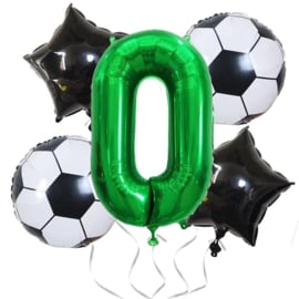 Voetbal  Ballonnen  Set Cijfer 0