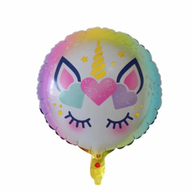 Unicorn Folie Ballon Rond