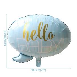 Geboorte Folie Ballon Jongen Ovaal