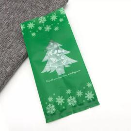 Kerstboom snoepzak xl groen
