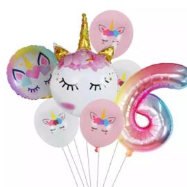 Unicorn Ballonnen Set 6 jaar