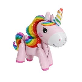 Unicorn Folie Ballon Roze