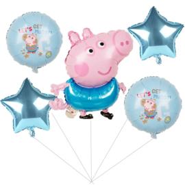 Peppa Pig Folie Ballon Motief 1