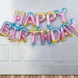 Happy Birthday Folie Ballon Slinger Motief 1
