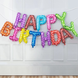 Happy Birthday Folie Ballon Slinger Motief  2