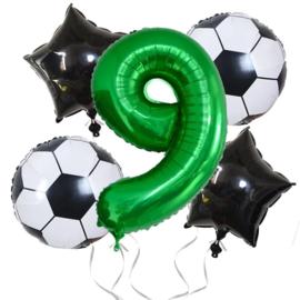 Voetbal  Ballonnen Set Cijfer  9
