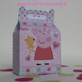 Peppa Pig Traktatie Tasje roze