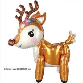 Kerst Hert Folie Ballon Motief 1
