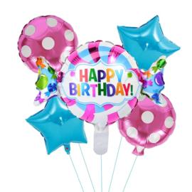 Happy Birthday Folie Ballon Set