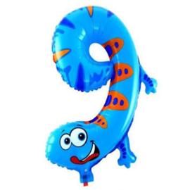Cijfer 9 Folie Ballon Salamander