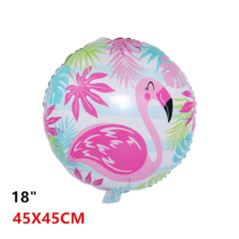 Flamingo Folie ballon rond