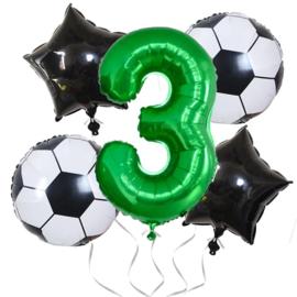 Voetbal  Ballonnen Set Cijfer  3