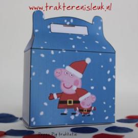 Peppa Pig Kerst Traktatie Tasje