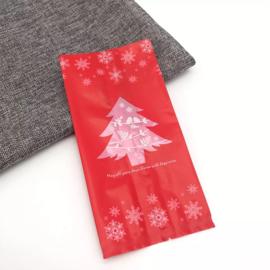 Kerstboom snoepzak xl rood
