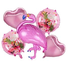 Flamingo Folie Ballonnen Set Roze