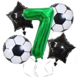 Voetbal Ballonnen Set Cijfer  7