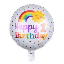 Happy Birthday 1 Folie Ballon