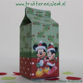 Mickey en Minnie Mouse Kerst Melkpakje Traktatie