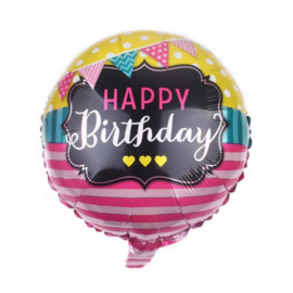Happy Birthday Folie Ballon Motief 3