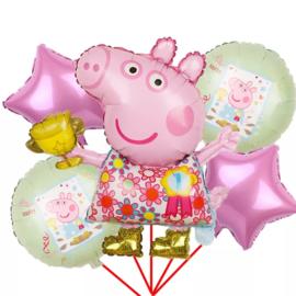 Peppa Pig Folie Ballon Motief 3