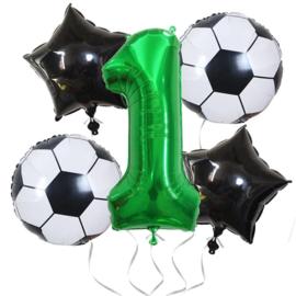 Voetbal  Ballonnen Set Cijfer 1