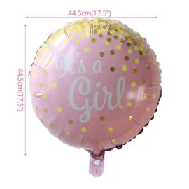 Geboorte Folie Ballon Meisje