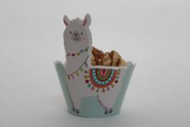 Lama cupcake wikkel 1 geheel