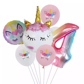 Unicorn Ballonnen Set 4 jaar