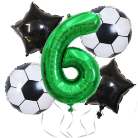 Voetbal Ballonnen Set Cijfer  6
