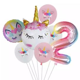 Unicorn Ballonnen  Set  2 jaar