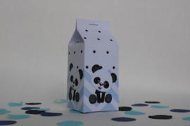 Panda Melkpakje Traktatie blauw