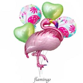 Flamingo Folie Ballonnen Set Groen