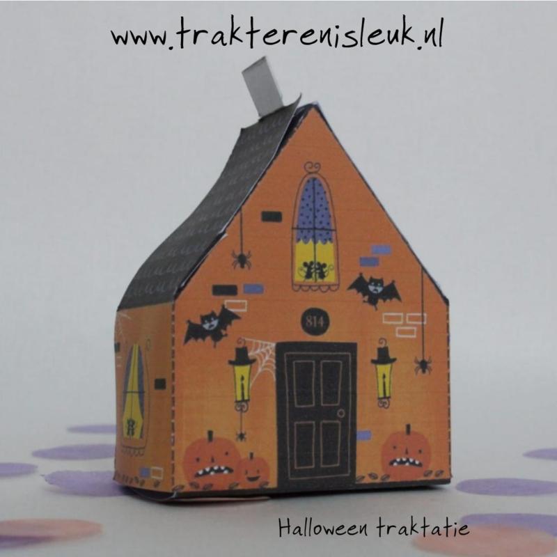 Happy Halloween traktatie huisje