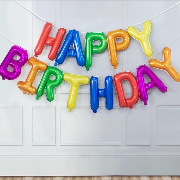 Happy Birthday Folie Ballon Slinger Motief 3