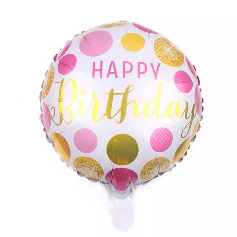 Happy Birthday Folie Ballon Motief 2