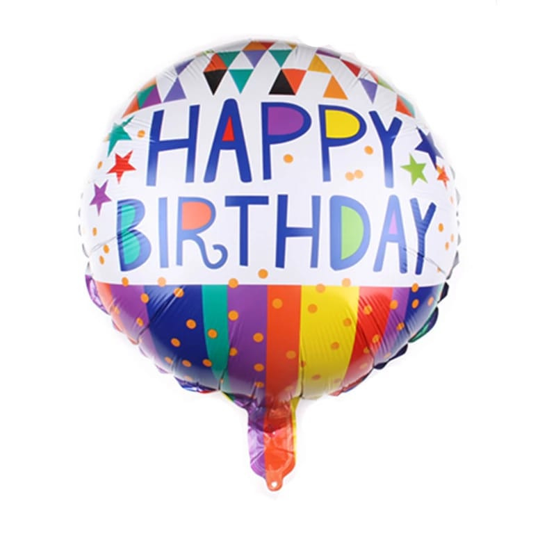 Happy Birthday Folie Ballon Motief 4