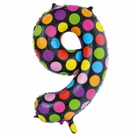 Confetti Cijfer Folie Ballonnen Nummer  9