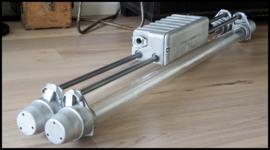 Industriële TL, grote dubbele TL gestraald,  LED lampen