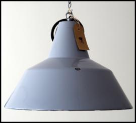 Grote industriële grijs emaille louis poulsen lamp! Mooie staat!