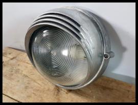 VERKOCHT! Industriële wandlamp, plafondlamp korflamp CCCP (meerdere beschikbaar)
