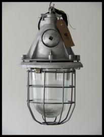 Industriële kooilamp, bully gepolijst (5 beschikbaar)