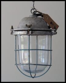 Industriële kooilamp, zeer fraaie bully (7 beschikbaar)