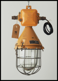 Industriële kooilamp EOW, okerkleurige bully ( 3 beschikbaar)