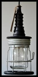 Stoere oude looplamp, stoere garagelamp. (meerdere beschikbaar)