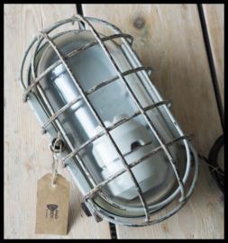 Industriële wandlamp, plafondlamp korflamp DDR (meerdere beschikbaar)