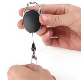 Keycord  - Sleutelhanger met afrolmechanisme nylon 70 cm