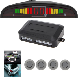 Universele Parkeersensoren LED Ultrasonic Grijs